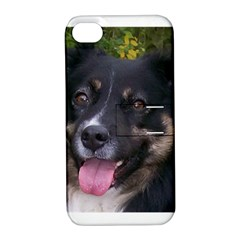 Australian Shepherd Black Tri Apple iPhone 4/4S Hardshell Case with Stand
