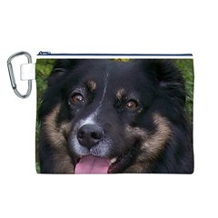 Australian Shepherd Black Tri Canvas Cosmetic Bag (L)