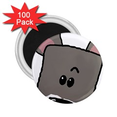Peeping Miniature Schnauzer 2.25  Magnets (100 pack)