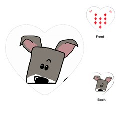 Peeping Miniature Schnauzer Playing Cards (Heart)