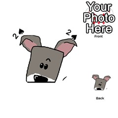 Peeping Miniature Schnauzer Playing Cards 54 (Heart)