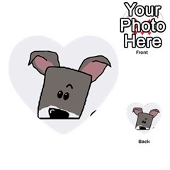 Peeping Miniature Schnauzer Multi-purpose Cards (Heart)