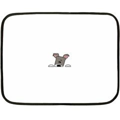 Peeping Miniature Schnauzer Fleece Blanket (Mini)