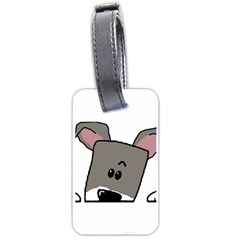 Peeping Miniature Schnauzer Luggage Tags (Two Sides)