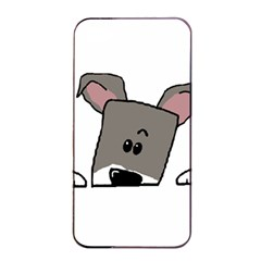 Peeping Miniature Schnauzer Apple iPhone 4/4s Seamless Case (Black)