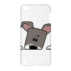 Peeping Miniature Schnauzer Apple iPod Touch 5 Hardshell Case