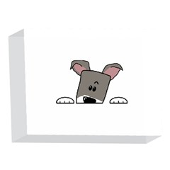 Peeping Miniature Schnauzer 5 x 7  Acrylic Photo Blocks