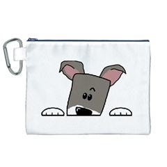 Peeping Miniature Schnauzer Canvas Cosmetic Bag (XL)