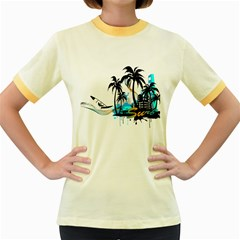 Surfing Women s Fitted Ringer T Shirts