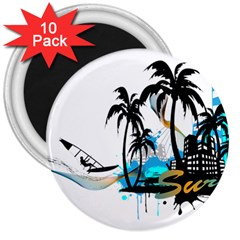Surfing 3  Magnets (10 pack)