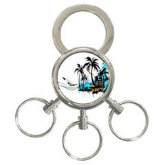 Surfing 3-Ring Key Chains