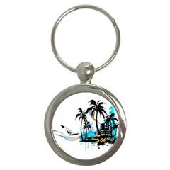 Surfing Key Chains (round)