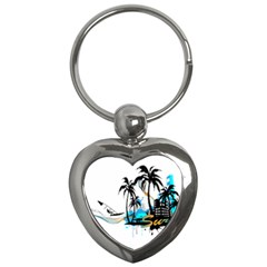 Surfing Key Chains (heart)