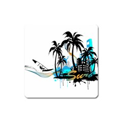 Surfing Square Magnet