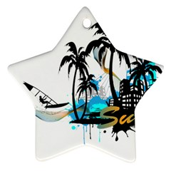 Surfing Star Ornament (Two Sides)