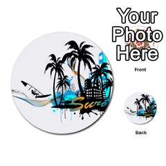 Surfing Multi Purpose Cards (round)