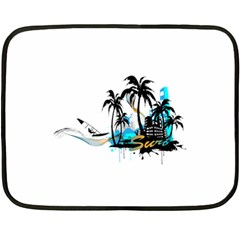Surfing Fleece Blanket (Mini)