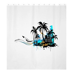 Surfing Shower Curtain 66  X 72  (large)