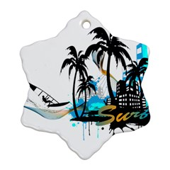 Surfing Snowflake Ornament (2-Side)