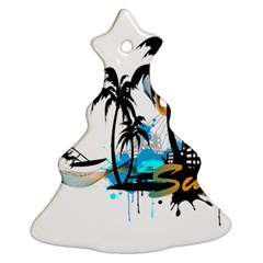 Surfing Christmas Tree Ornament (2 Sides)