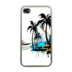 Surfing Apple iPhone 4 Case (Clear)