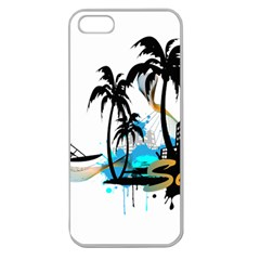 Surfing Apple Seamless iPhone 5 Case (Clear)