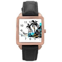 Surfing Rose Gold Watches