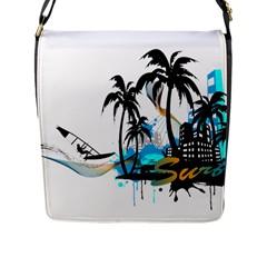 Surfing Flap Messenger Bag (L)