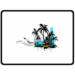 Surfing Double Sided Fleece Blanket (Large)