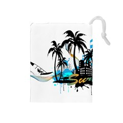 Surfing Drawstring Pouches (medium)