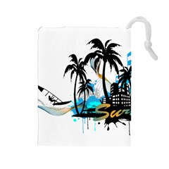 Surfing Drawstring Pouches (Large)