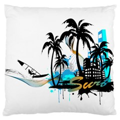 Surfing Large Flano Cushion Cases (One Side)