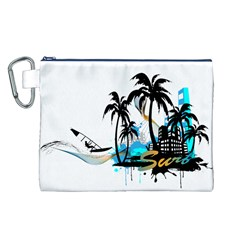 Surfing Canvas Cosmetic Bag (L)