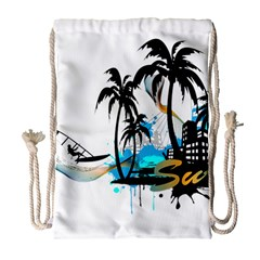 Surfing Drawstring Bag (Large)
