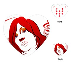 Women face with clef Playing Cards (Heart)
