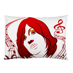 Women face with clef Pillow Cases