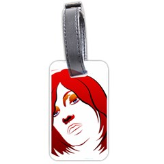 Women face with clef Luggage Tags (Two Sides)