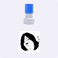 Women Face With Clef Rubber Round Stamps (small)