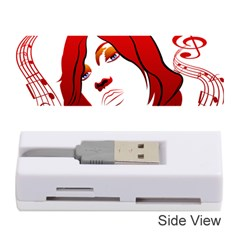 Women Face With Clef Memory Card Reader (stick)