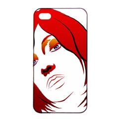 Women Face With Clef Apple Iphone 4/4s Seamless Case (black)
