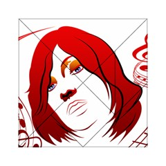 Women face with clef Acrylic Tangram Puzzle (6  x 6 )