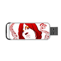 Women Face With Clef Portable Usb Flash (two Sides)