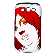Women Face With Clef Samsung Galaxy S Iii Classic Hardshell Case (pc+silicone)