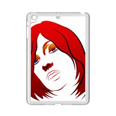 Women face with clef iPad Mini 2 Enamel Coated Cases