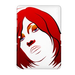 Women Face With Clef Samsung Galaxy Tab 2 (10 1 ) P5100 Hardshell Case
