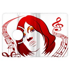 Women face with clef Kindle Fire HDX Flip 360 Case