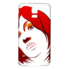 Women face with clef Samsung Galaxy S5 Back Case (White)