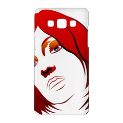 Women face with clef Samsung Galaxy A5 Hardshell Case