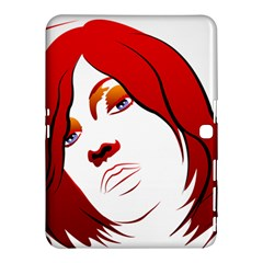 Women face with clef Samsung Galaxy Tab 4 (10.1 ) Hardshell Case