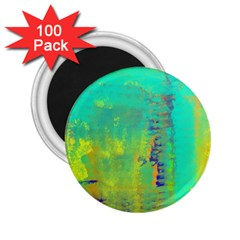 Abstract in Turquoise, Gold, and Copper 2.25  Magnets (100 pack)